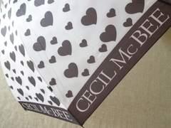 セシルマクビー★ハート柄★可愛い傘新品…ノベルティ