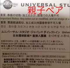 USJ ペアチケット、ユニバーサルスタジオジャパン