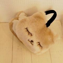 新品タグ付き ネコ イヤーマフラー ライトベージュ