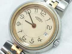 3182/エルメス定価25万円位超可愛いレディース腕時計Hコンビブレスレット