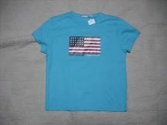 62 女 ラルフローレン 青 半袖Tシャツ S