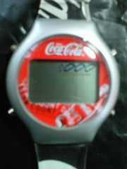 コカ・コーラ コカコーラ カウントダウン ウオッチ デジタル 腕時計 スケルトン 電池式 箱付