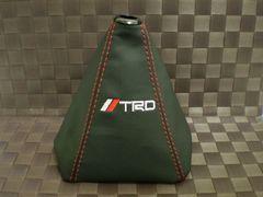 TRD トヨタ レザーシフトブーツ カバー MT用 レッドステッチ