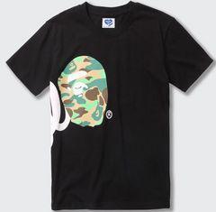 ape 半袖Tシャツ 黒 M エイプside abathing ape