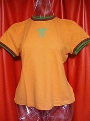 特価! h.n.重ね着風Tシャツグリーン&オレンジ