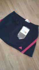 アディダス adidas インナー付きスカートネイビー×ピンク新品L