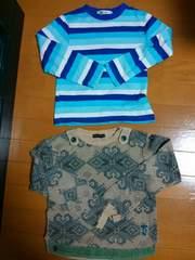 ☆美品☆長袖シャツ2枚セット☆120