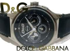 極レア 1スタ★ドルガバ/D&G【クロノグラフ】大型メンズ腕時計