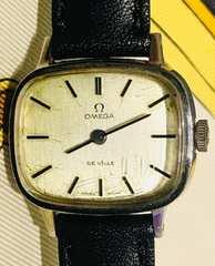オメガデビルレディース時計手巻き式革ベルト新品稼働品