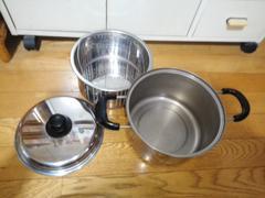 ステンレス製 ザル付き両手鍋