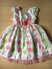 ピンクふりふりドレスサイズ5(110くらい)