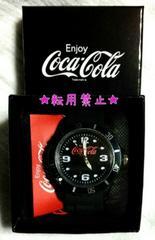 コカ・コーラ シリコンウォッチ 腕時計 新品非売 黒 ブラック 時計