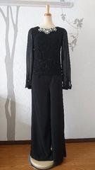 L パンツドレス Jewels セットアップ ブラック 新品 J16545