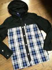 美品SHIPS JET BLUE  デザインジャケット シップス