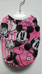 ハンドメイド*ミニーTシャツ*ピンク・白・バイカラー・ストライプ・犬用*M