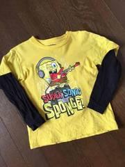 アメリカ☆スポンジボブ・レイヤード風Tシャツ