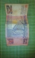 シンガポール旧2ドル札♪