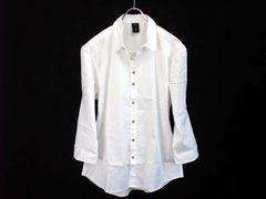 「RICEND」5部袖ワイヤーデザインシャツXLホワイト新品※2点送料無料