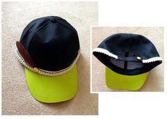 男女兼用★編みライン フェザー◆ 2トーン キャップ 帽子