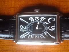 ★正規品フランクミュラー黒革クロコの腕時計です☆