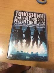 東方神起2nd live tour2007five in the blackライブDVD通常盤