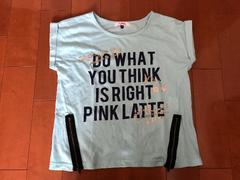 ピンクラテ★PINK-latte Tシャツ 半袖 水色 S160
