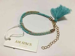 Air Space Accessories 2連ブレスレット スカイブルー