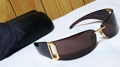 正規未レア Gackt着 同型同色! ドルチェ&ガッバーナ メタルサングラス黒×ゴールド