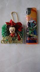 新品☆ミッキークリスマスリースキーホルダー♪再々々値下げ