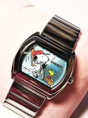 スヌーピー  腕時計 ベースボール  野球  青色  レディース