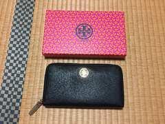トリーバーチ☆長財布☆黒×ゴールド