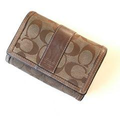 即決送料無料 COACH シグネチャー 折財布
