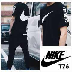 T76L■新品★ナイキ アトモス 別注 ブレンドロゴ Tシャツ 黒L■
