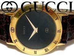 極レア 1スタ★グッチ/Gucci【スイス製】3000 メンズ腕時計★