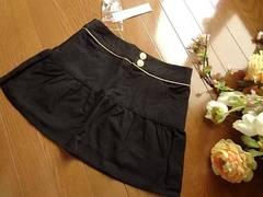 新品 Dress up ボタン使い ミニスカート 黒 Sフレア