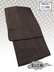 【和の志】男性用カジュアル着物◇ウール系・Sサイズ◇茶系