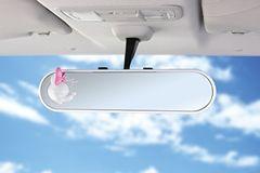 ディズニー【ミニー】飛散防止加工高精度クローム30cm平面鏡ワイドルームミラー