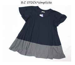 B.C STOCK*simpliciteフレアスリーブAライン切替チュニックプルオーバー新品