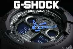 送料込 G-SHOCK CASIO カシオ 1/1000秒クロノデジアナBKBL新品