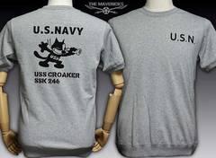ミリタリーTシャツ サイドパネル 米海軍フェリックス CROAKER M