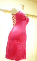 新品キャバ嬢…大胆背魅せ&編み上げSexyドレス☆3点で即落☆