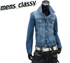 新品 デニムジャケット Gジャン カジュアル ブルー 5L