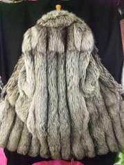 ★大特価★毛皮〓SAGA金ラベルロイヤル〓シルバーフォックス超ロングコート