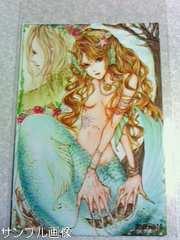 自作同人ポストカード オリジナル Mermaid