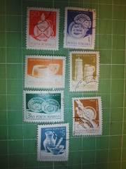 ルーマニア置物切手7種類♪