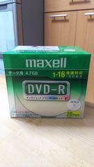 maxel マクセル DVD-R データ用 4.7GB 20枚入