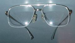 0170レトロ◆眼鏡フレーム◆ハーフリム バリ型 シルバー色