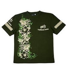 新作/anti/Tシャツ/グリーン/L/ATT-144/エフ商会/テッドマン/サンサーフ/ハワイアン