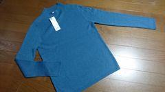 ¥1490大きいサイズ新品☆ラメハイネック薄手セーター/XL