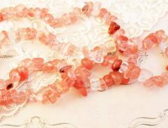桜石英さざれ/チップ15g天然石ビーズ